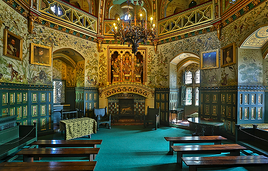 wedding room in Castle coch