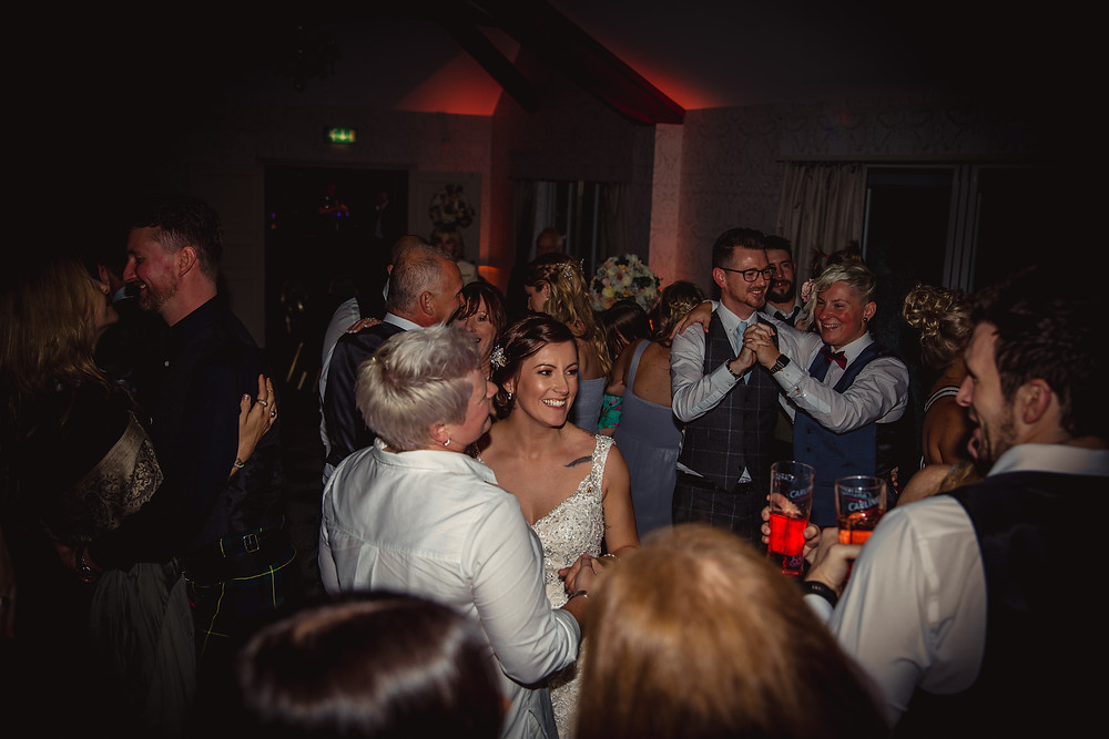 packed dance floor wedding DJ