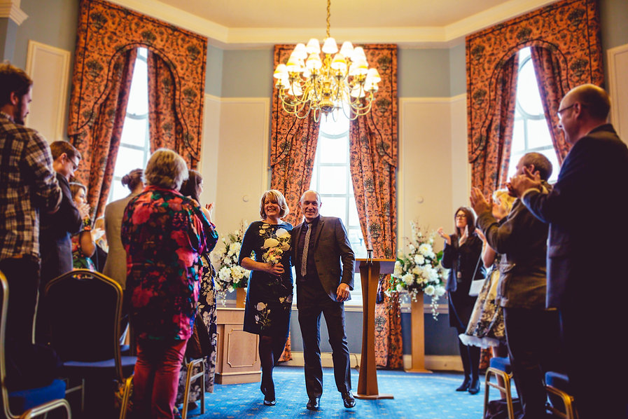 Party at Cardiff registry office Wedding