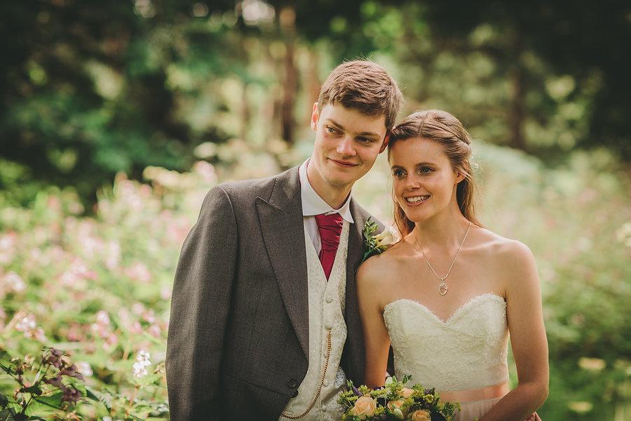 Posing at Glyn Clydach Hotel Wedding