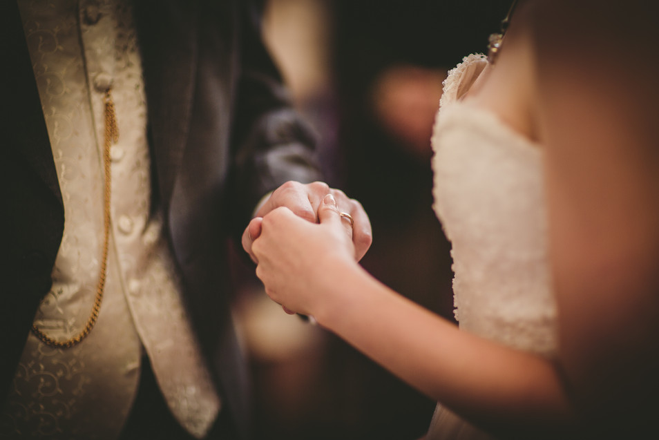 Wedding rings at Royal Welsh College Music Drama