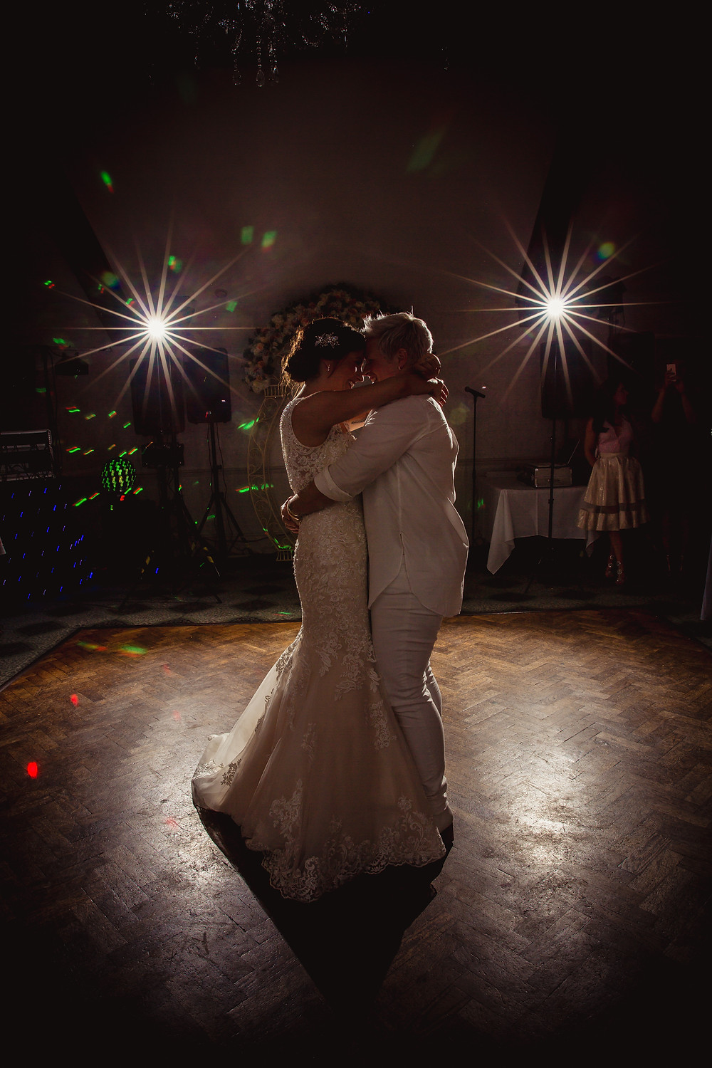 first dance at wedding in Cardiff