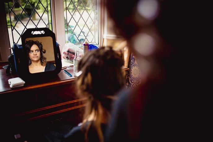 girl at Llechwen Hall Wedding