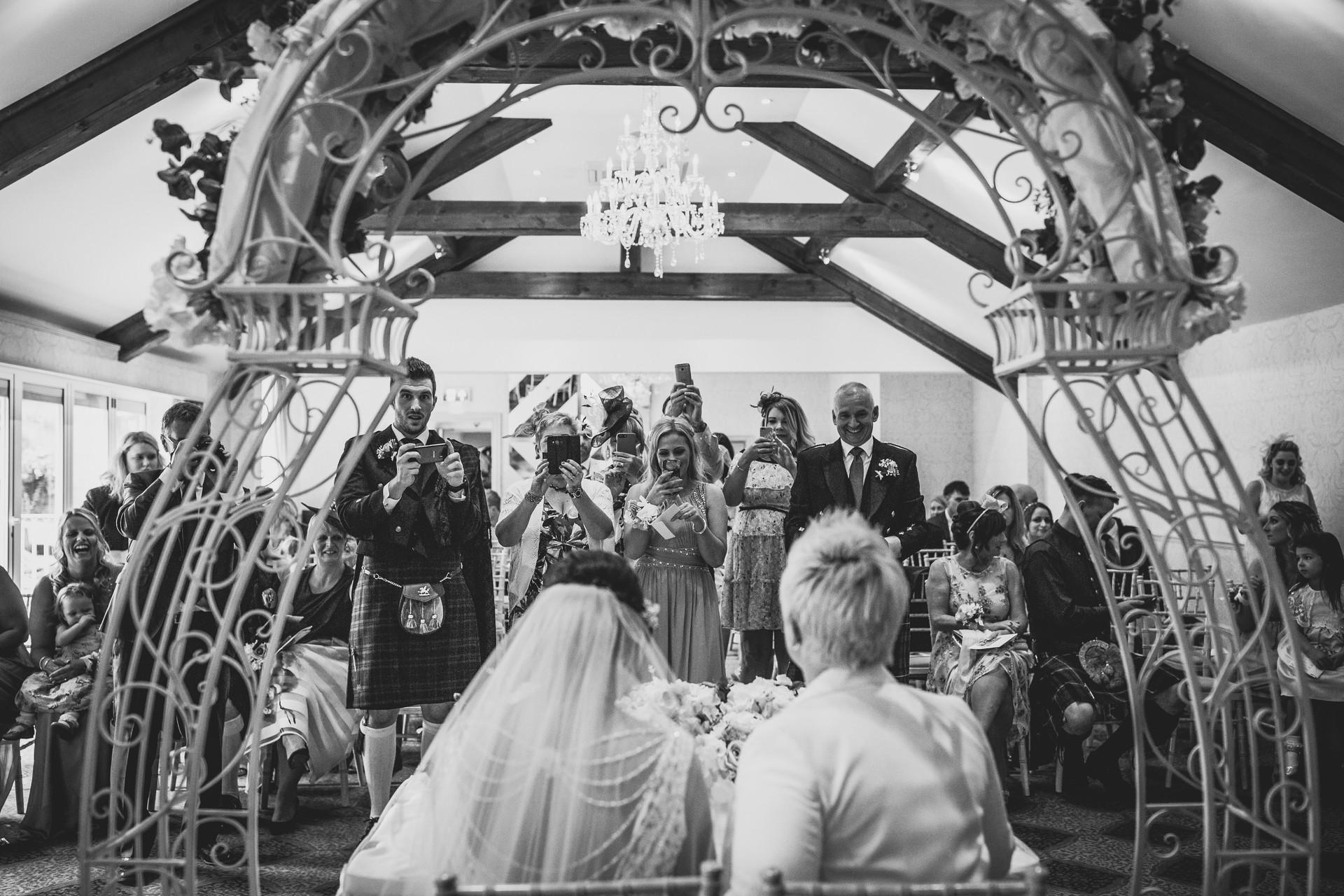 two brides at Coed Y Mwstwr, Cardiff