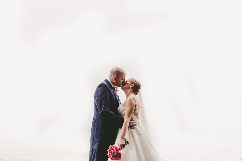 bride and groom at Oxwich Bay Hotel South Wales
