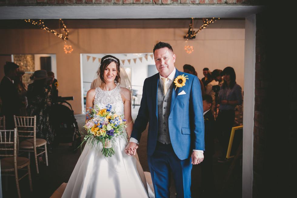 bride and groom in Crug Glas South Wales