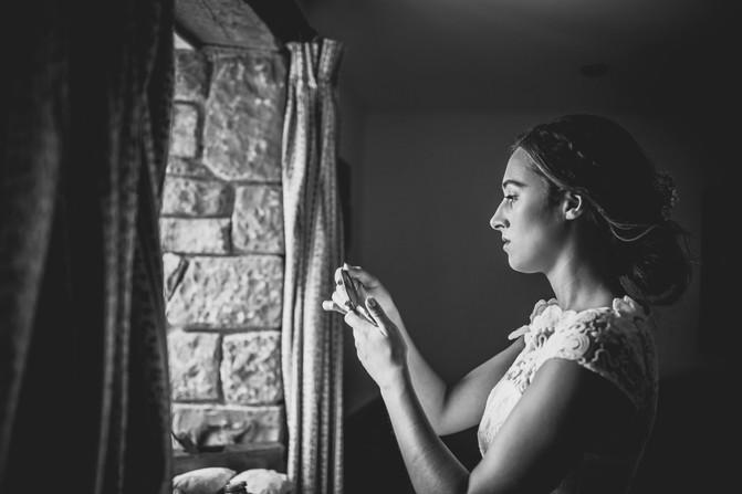 bride at a Cardiff wedding