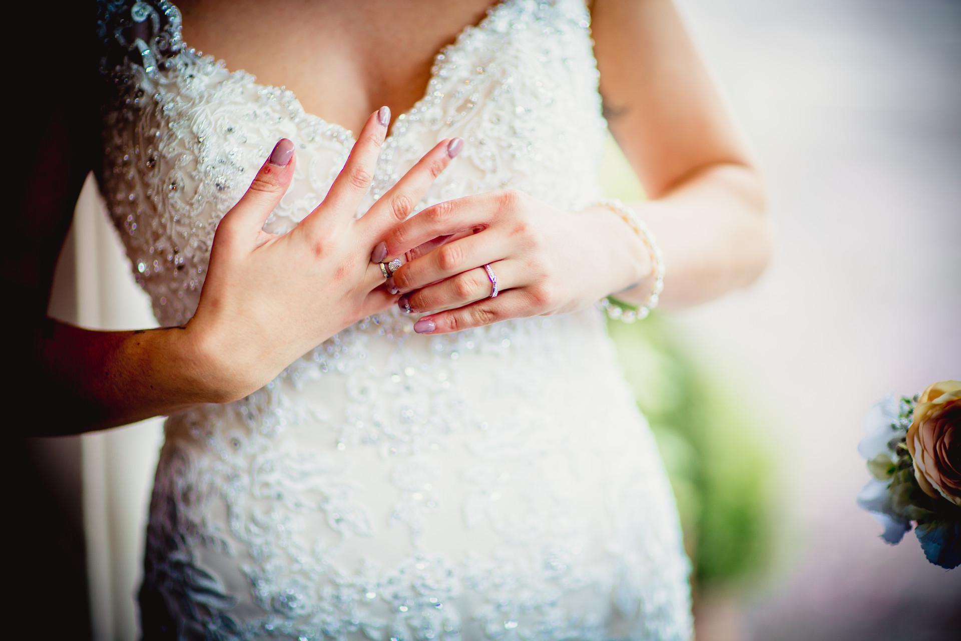 wedding rings at Coed Y Mwstwr
