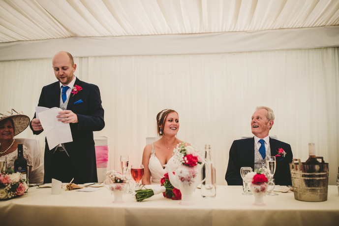 announcing at Oxwich Bay Marquee Wales