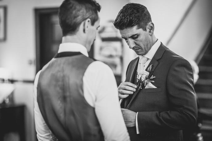 groom at a wedding