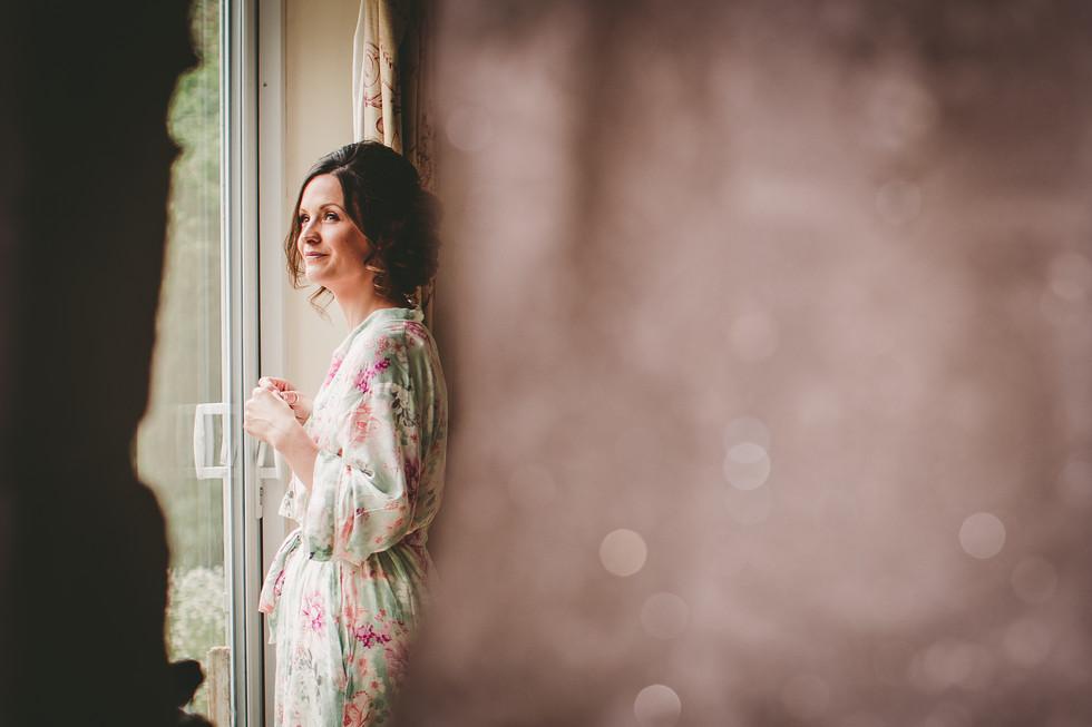 bride in Crug Glas