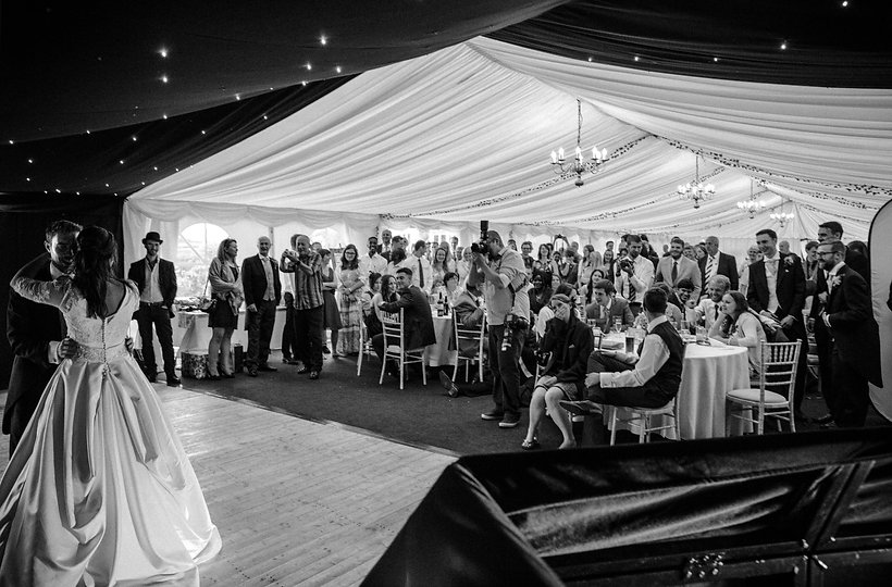 Dancing at Dyffryn Springs Wedding