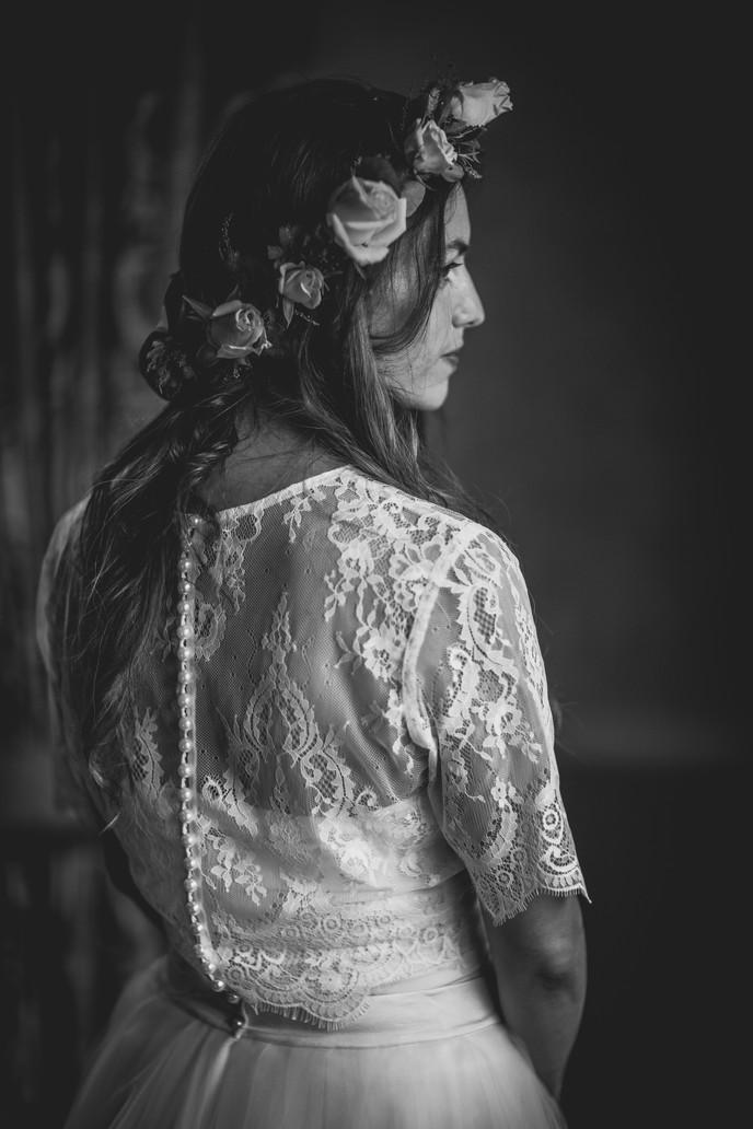 bride at a wedding