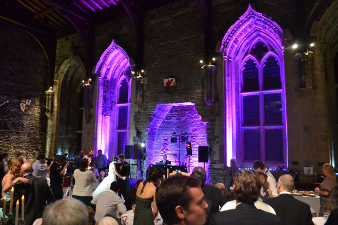 Caerphilly Castle Wedding dj