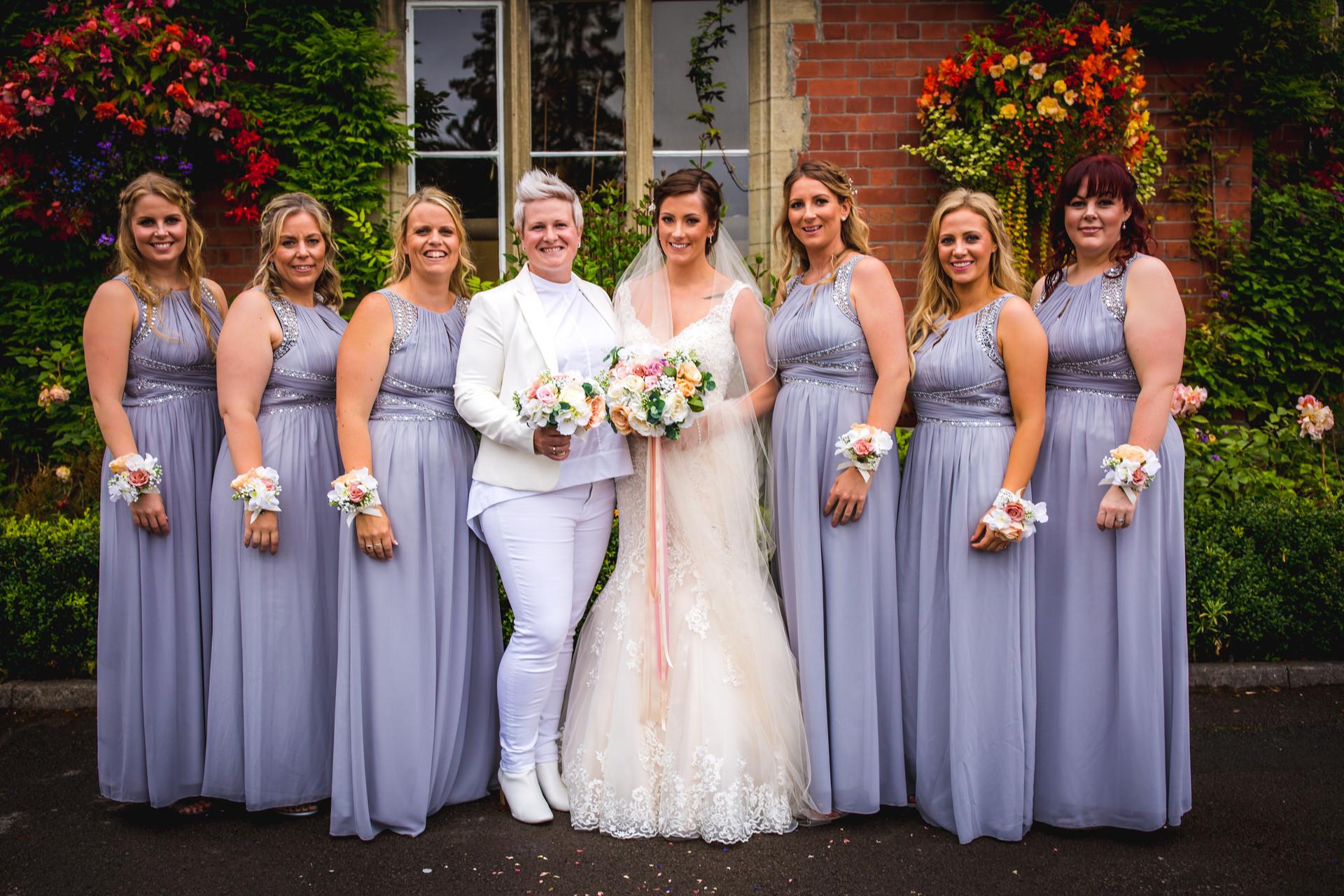 bridal shot at Coed Y Mwstwr wedding