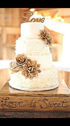 rustic wedding cakes in cardiff