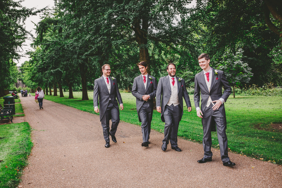 groom and ushers at RWCMD