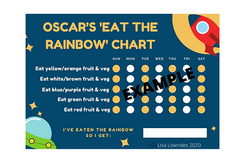 """SPACE """"Eat the Rainbow"""" Reward Chart Pack"""