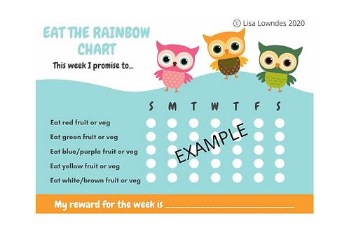 "OWL ""Eat the Rainbow"" Reward Chart Pack"