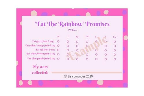 "PINK SPOTS ""Eat the Rainbow"" Reward Chart Pack"
