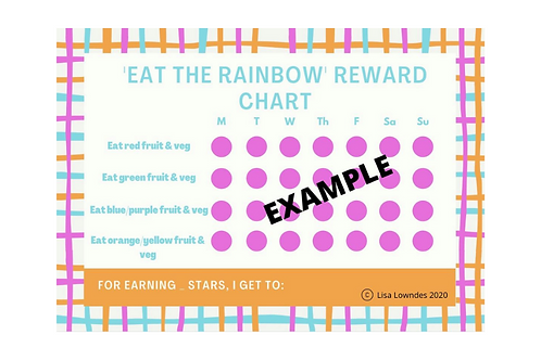 "WEAVES ""Eat the Rainbow"" Reward Chart Pack"