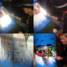 Johnny Depp Signing the bin