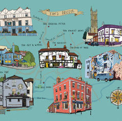 Personalised Bristol pub map
