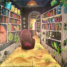Boomtown Library Scenic Painting