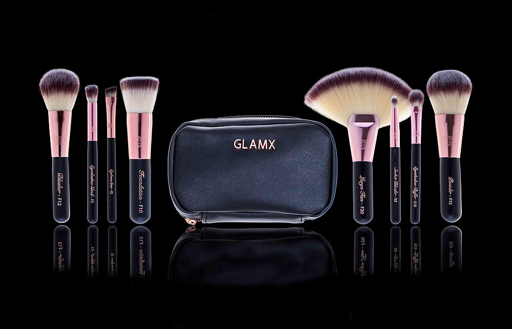 Glamx 8 Piece Deluxe Makeup Brush Kit - $79.95
