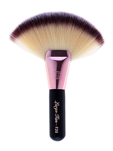 rose gold fan brush F20 glamx