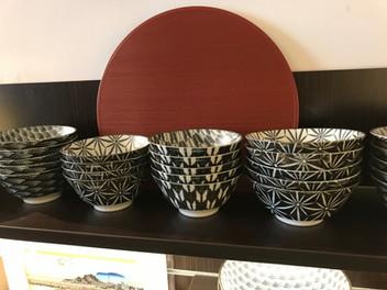 Bols motifs géométriques