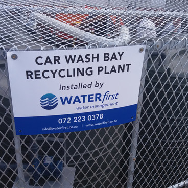 CAR WASH BAY WATER TREATMENT PLANT Engen Humewood