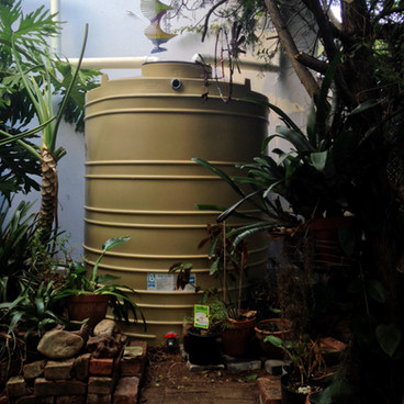 RAINWATER TANK BLENDED INTO THE ENVIRONMENT