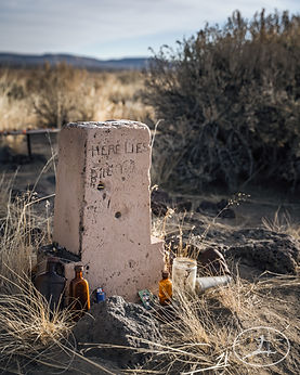 Grave stone at Shirk Ranch