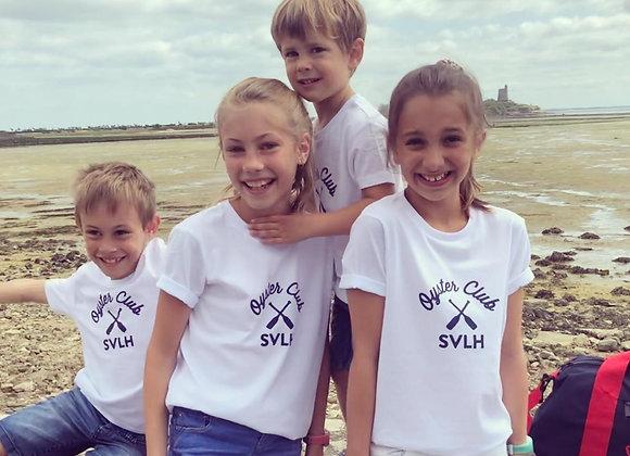 T-Shirt Blanc Oyster Club Kids