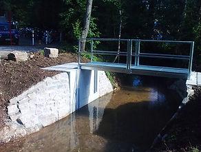 Ingenieurbau in der Region Ludwigsburg, Brückenbau, Rücklaufbecken