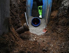 Bauunternehmen Tiefbau Region Murrhardt - Tiefbau Backnang, Kanalbau, Wasserleitungsbau, Erschließung von Wohngebieten Region Murrhardt