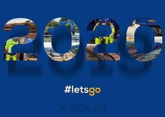 Neujahrsgrüsse 2020 - #letsgo - www.wilhelm-weidler.de