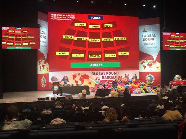 טקס הפתיחה של תחרות דיבייט WSC בקטגורית סניורס של גביע המלומדים בברצלונה
