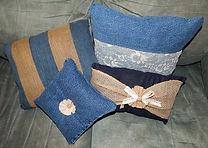 Old Denim Jeans Pillows