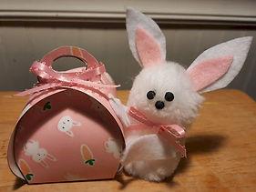Curvy Keepsake Box Pom Pom Bunny