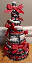 Fabric Christmas Tree With Bows