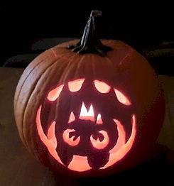 Upside Down Bat Pumpkin