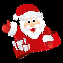 waving santa clipart