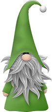 FREE Green Gnome Clipart png