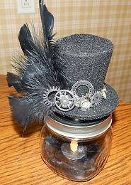 Steampunk Candle Jar
