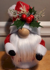 Santa Gnome With Holly