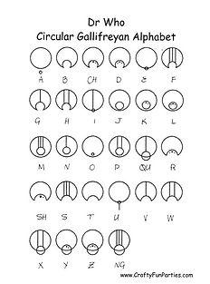 Circular Gallifreyan Alphabet Printable
