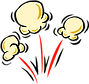 Popping Corn Clipart png