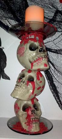 Stacked Skeleton Candle Holder